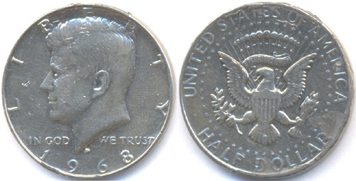 USA 1/2 dollár 1968 Kennedy - hamis